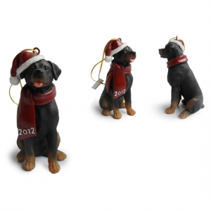 Rottweiler  Christmas Tree Ornaments