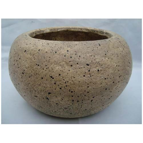 alms bowl fiber planter