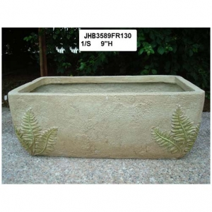 9 rectangle fiber planter