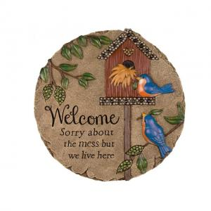 7H Resin four birds  Welcome Sign